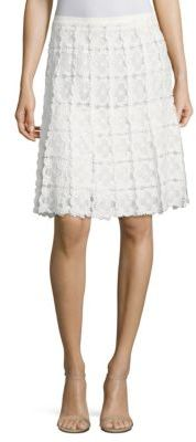 Elie Tahari Tyler Floral Lace Skirt $348 thestylecure.com