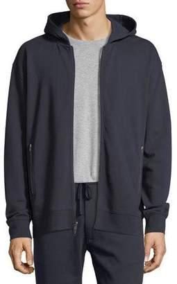Vince Zip-Pocket Cotton Hoodie