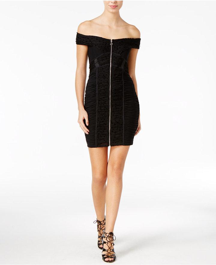 Guess Belladonna Off-The-Shoulder Bodycon Dress