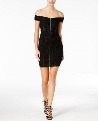 Guess Belladonna Off-The-Shoulder Bodycon Dress $108 thestylecure.com