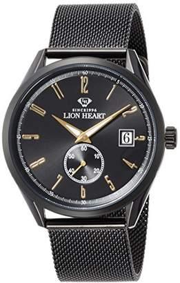 Lion Heart (ライオン ハート) - [ライオンハート]Lion Heart 腕時計 W103 ステンレススチール メッシュバンド ブラック文字盤 クォーツ 日常生活防水 LHW103BBK 腕時計