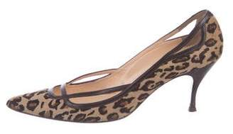 Christian Louboutin Leopard Pointed-Toe Pumps