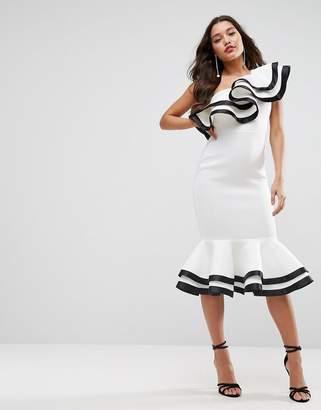 Red Carpet ASOS Edition ASOS Scuba Midi Dress