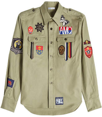 Alexander McQueen Cotton Shirt with Patches