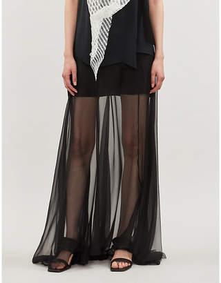 Selfridges Omer Asim Haraza high-rise silk maxi skirt