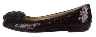 Valentino Sequined Ballet Flats