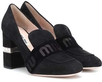 Miu Miu Suede loafer pumps