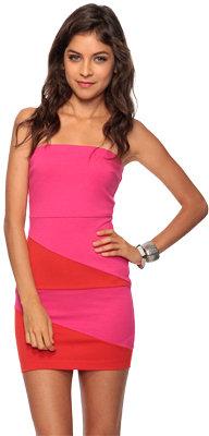 Forever 21 Asymmetrical Colorblock Dress