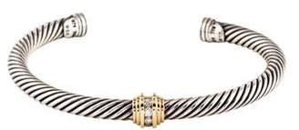 David Yurman Two-Tone Diamond Cable Cuff