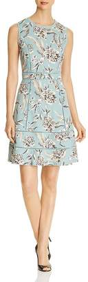 Karl Lagerfeld Paris Lace-Trim Fit-and-Flare Dress