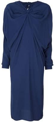 Marni draped gathered neck dress