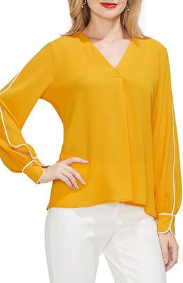 Vince Camuto Piped Sleeve Top