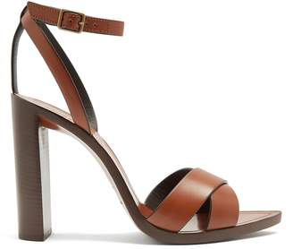 Tanger wood and leather sandals