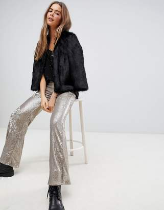 Free People Minx sequined flared trousers