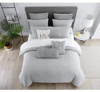 AWE Jersey Knit 3PC Cotton Duvet Set Queen Grey