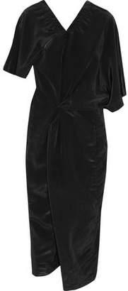 Jil Sander Asymmetric Draped Shell Midi Dress