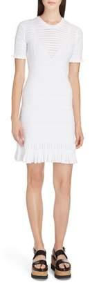Kenzo Knit Ruffle Hem Dress