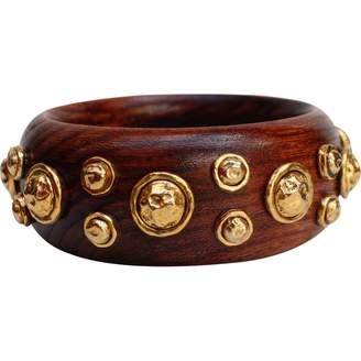Chanel Brown Wood Bracelet