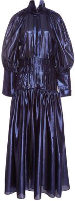 Midnight Sword Bubble Sleeve Dress