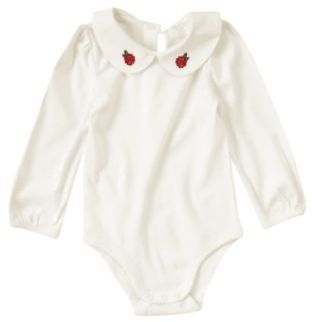 Baby Girl Rose Collar Bodysuit