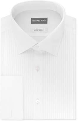 Michael Kors Men's Tuxedo Regular Fit Airsoft Stretch Performance Tonal Stripe French Cuff Dress Shirt