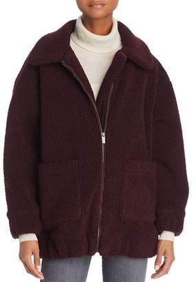 Splendid Oversized Fleece Zip Jacket