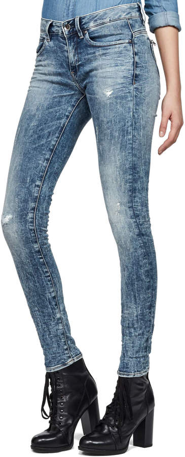 G-STAR Midge Zip Mid Skinny Lor Superstretch - Jeans für Damen
