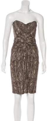 Michael Kors Strapless Knee-Length Dress