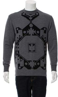 Givenchy Intarsia Print Crew Neck Sweater