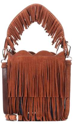 Miu Miu Fringed suede bucket bag