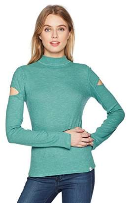 Calvin Klein Jeans Women's Long Sleeve Rib Mock Neck Sweater