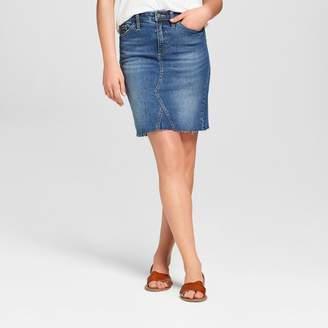 Americana Universal Thread Women's Denim Skirt - Universal Thread Dark Wash