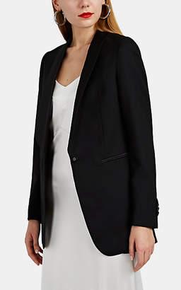 Officine Generale Women's Phoebe Micro-Basket-Weave Wool Tuxedo Jacket - Black