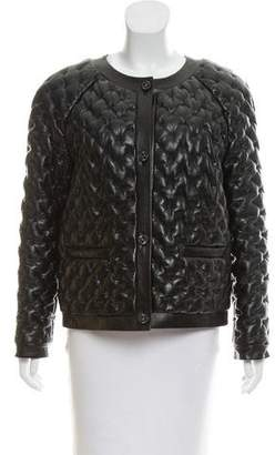 Chanel Leather Quilted Jacket