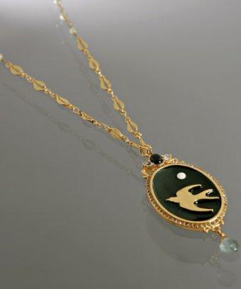Lee Angel 'Emma' bird-in-flight pendant necklace
