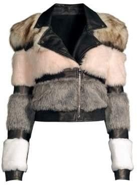 Bristol Faux Fur & Leather Moto Jacket