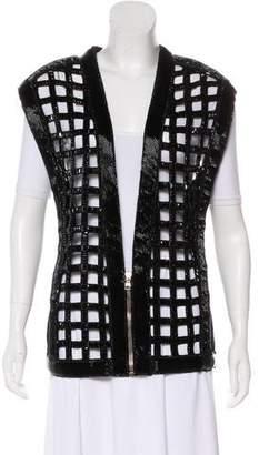 Balmain Embellished Zip-Up Vest