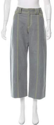 Proenza Schouler Mid-Rise Wide-Leg Pants