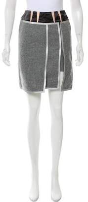 Balenciaga Contrast Trimmed Wool Skirt w/ Tags
