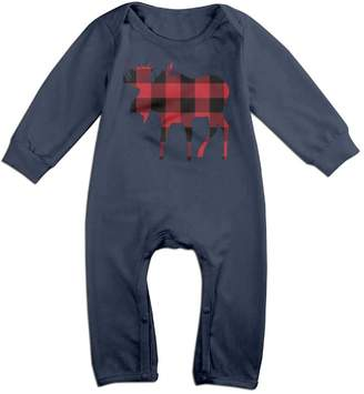 Buffalo David Bitton Babysusu Plaid Moose Lumberjack Red Black Baby Romper Jumpsuit Playsuit Outfits 6 M
