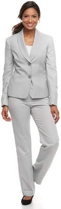 Le Suit Women's Textured Gray Pant Suit