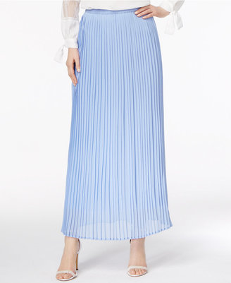 Cupio by Cable & Gauge Pleated Maxi Skirt $60 thestylecure.com