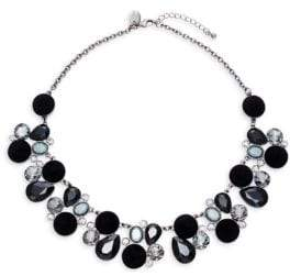 Ava & Aiden Glass Stone & Crystal Collar Necklace