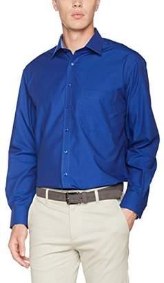Eterna Men's Comfort Fit Langarm Blue Uni Mit Modern Kent-Kragen Formal Shirt