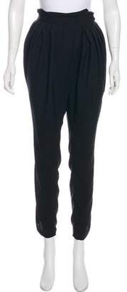 Heidi Merrick High-Rise Straight-Leg Pants