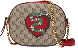 Limited Edition GG Supreme mini chain bag $1,100 thestylecure.com