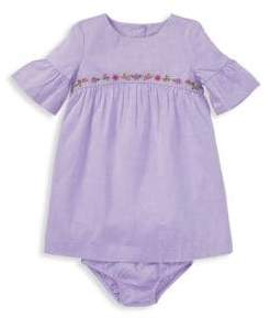 Ralph Lauren Baby Girl's Embroidered Cotton Dress