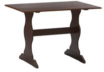 Linon Solid Pine Table in Walnut
