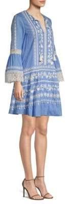 Tory Burch Gabriella Bell-Sleeve Cotton Dress