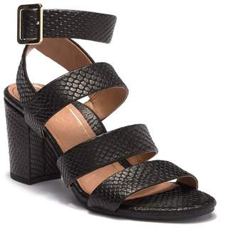 9543cedd9 Vionic Blaire Snake Embossed Leather Block Heel Sandal